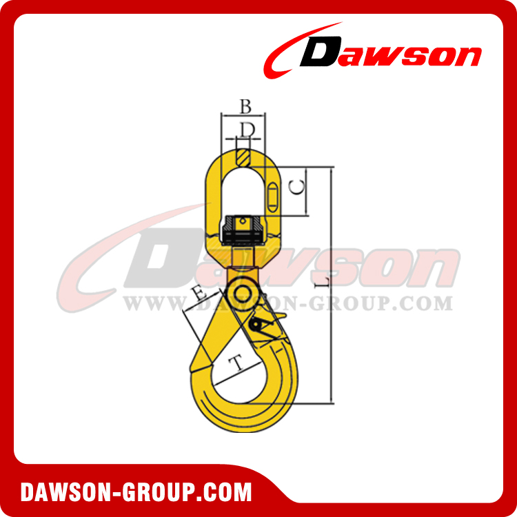 DS042 G80 SWIVEL SELFLOCK HOOK WITH BEARING DAWSON-GROUP-LTD.-CHINA FACTORY