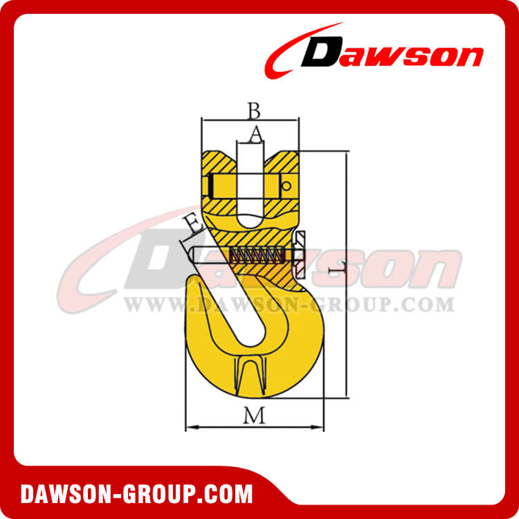 DS313 G80 Clevis Shortening Cradle Grab Hook with Safety Pin for Adjust Chain Length