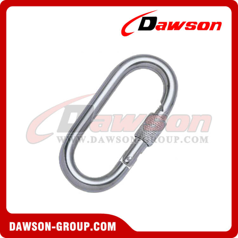 Stainless Steel Straight Snap Hook with Screw