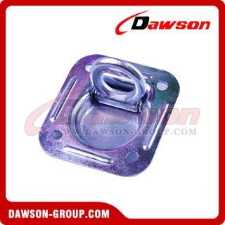 BS 6000lbs/2725kg Carbon Steel Zinc Plated Truck Tie Down Lashing Ring, Trailer Lashing Ring