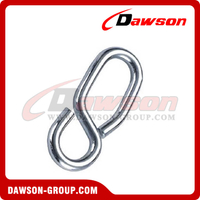 Rope Shortening 8-Shaped Hook Without Tongue Zinc Plated