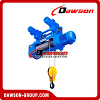 Monorail Electric Wire Rope Hoist Hook Suspension type Hoist 2-1 Electric Wire Rope Hoist
