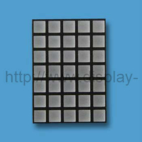 2 inch 5x7 LED Square Dot Matrix