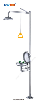 Stainless Steel Emergency Shower & Eye Wash (with dust cover)