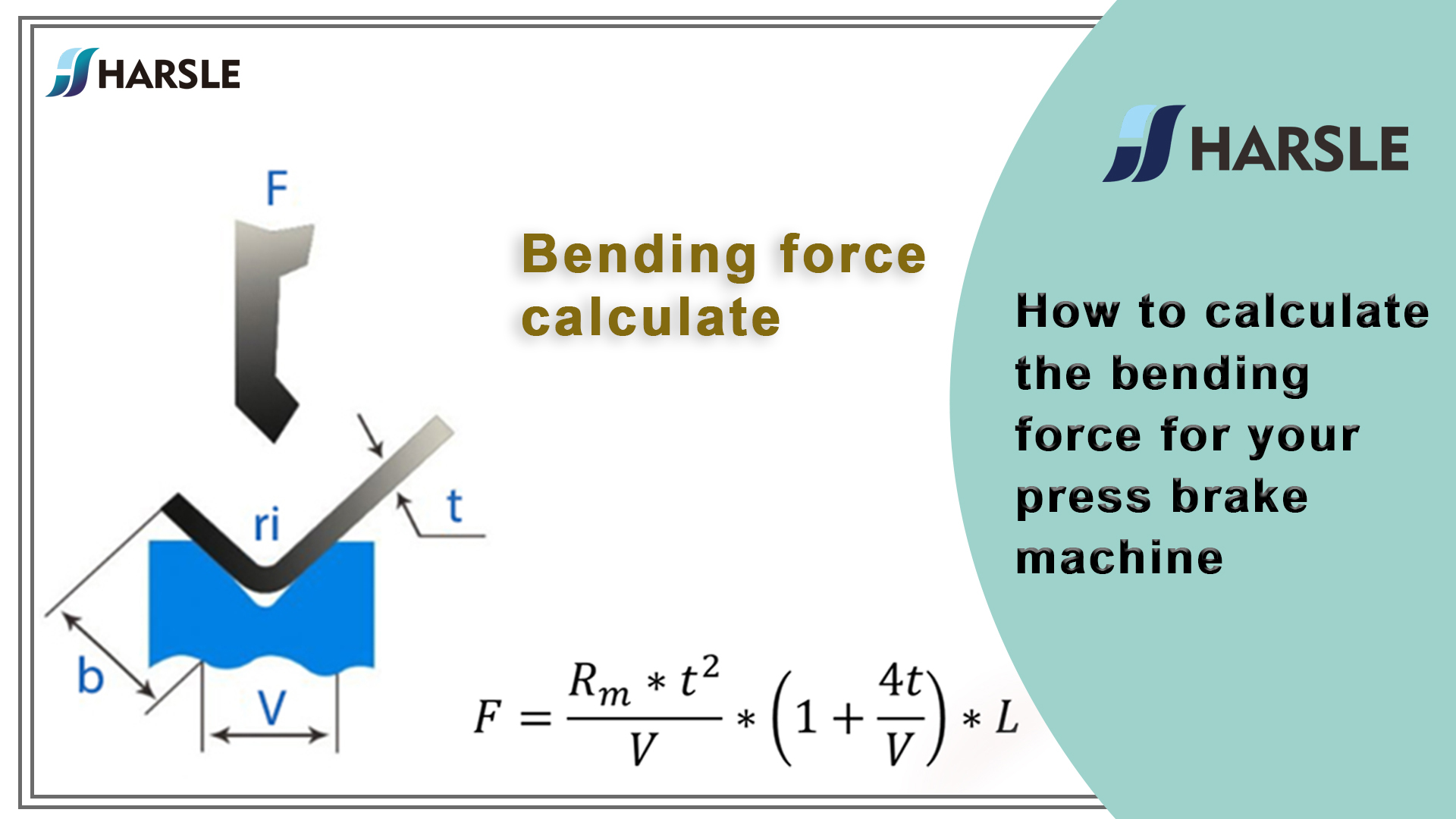 How to calculate the bending force for your press brake machine