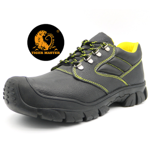 Black Leather Anti Slip Oil Filed Work Shoes Steel Toe Cap