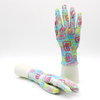 Polyester Liner Waterproof Women Nitrile Gloves Garden