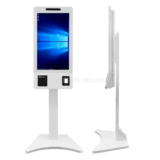32 Inch LCD Display Digital Signage Advertising Touch Screen Information Internet Kiosk Self Service Payment Machine for Shopping Center/Restaurant/Mall