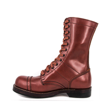 MILFORCE 6213 red brown fashion goodyear leather boots