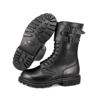 MILFORCE 6202 black classic style French leather boots