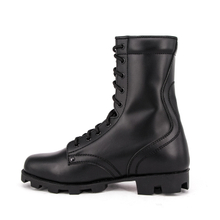 Military field black combat full leather boots 6236