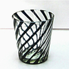 horn shape hand made sprayed color glass candle jar