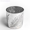 luxury home and garden electroplated glass candle jar wedding candle holder
