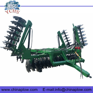 Agricultural equipment hydraulic folding disc harrow