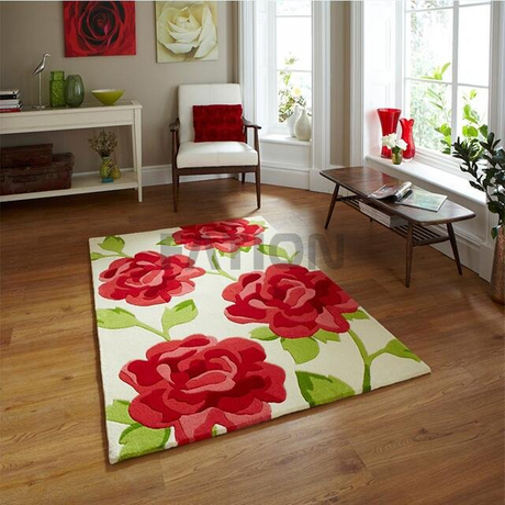 5'×8' Acrylic Anti-slip Floor Carpet Fluffy Area Rug