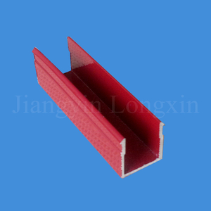 Red Powder Coated Aluminum Extrusion for Windows
