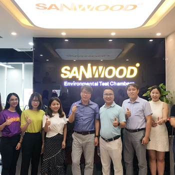Warmly welcome our South Korean partners visit Sanwood Environmental Test Chamber