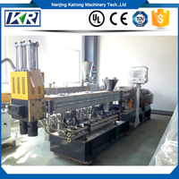PET Recycling Co-rotating Twin Screw Extruder Granules Making Line Plastic Compound Machine
