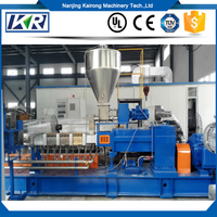 Plastic Compound Polyethylene Granules Extruding Machine/Air Cooling Hot Face Cutting PE Pellets Twin Screw Extruder Masterbatch