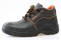 FOB $5.90 per pair for genuine leather PU sole safety shoes