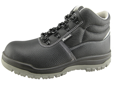 0168 buffalo leather steel toe work shoes for men