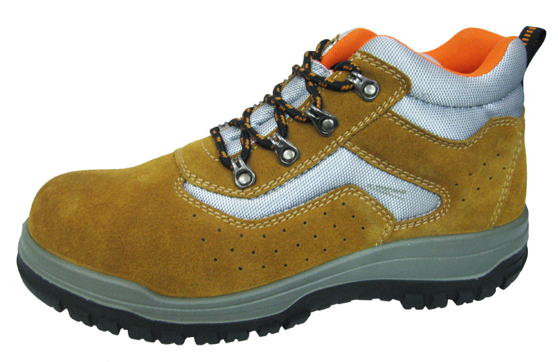Suede leather pu sole sport style safety shoes