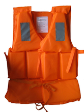Orange foam swimming life vest marine life jacket