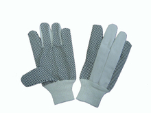 High quality dotted palm gloves with knitted wrist