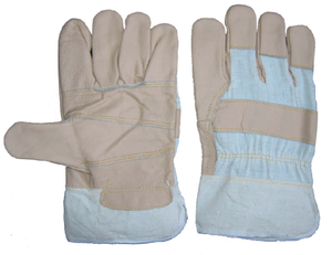 1273 light color funiture leather pasted cuff working gloves