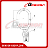 DS1073 G100 Master Link with Eye Grab Hook with Clevis Attachment for Adjust Chain Length