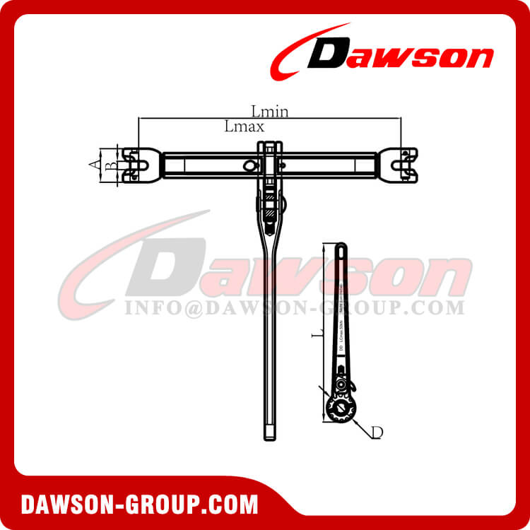 G100 Clevis Type Ratchet Load Binder for G100 Chain - Dawson Group Ltd. - China Supplier