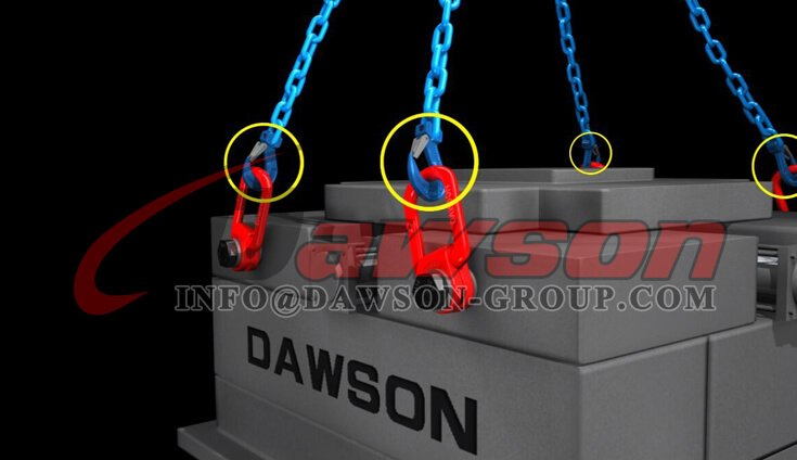 Application of G100 Forged Alloy Steel Clevis Sling Hook with Latch for Chain Slings - Dawson Group Ltd. - China Factory