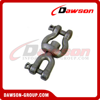 Hot Dip Galvanized Forged Carbon Steel Jaw End Swivel Shackle