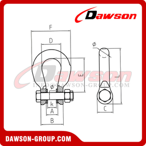 DS887 Forged Super Alloy Steel Special Bow Shackle for Wire Rope Lifting Slings