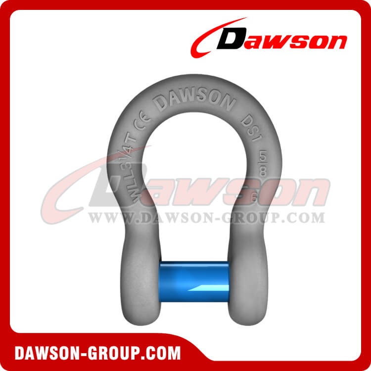 US Type Forged Trawling Bow Shackle with Sunken Pin