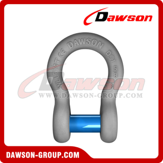 US Type Forged Trawling Bow Shackle with Sunken Pin, S6 Anchor Shackle Square Sunken Hole Pin