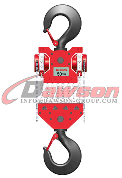 DAWSON DSDF-C 50T 60T Heavy Duty Lifting Chain Block, Chain Hoist - China Supplier, Factory