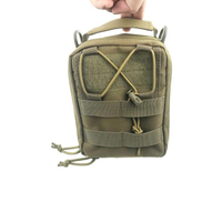 Small Multi-functional Military First Aid Army Bag with Straps And Zipper