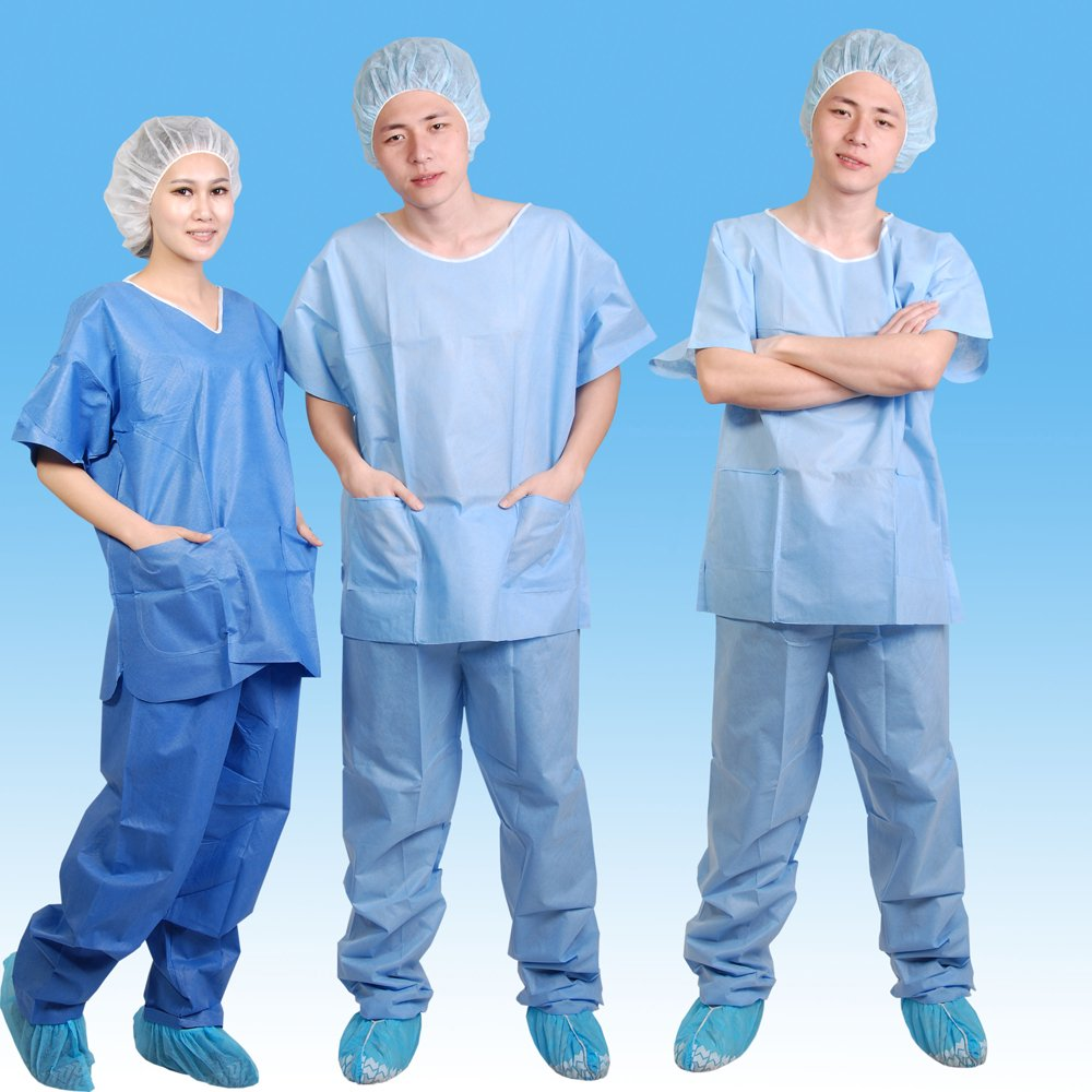 Disposable SBPP Scrub Suit with Snaps