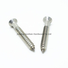 Stainless steel flat head self tapping wood screw