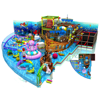 Priate Ship Themed Park Kids Soft Indoor Playground with Trampoline Park