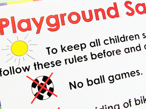 Safety Signs of kids indoor playground equipment