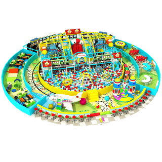 Custom Design Kids Soft Indoor Playground Equipment with Ball Pit