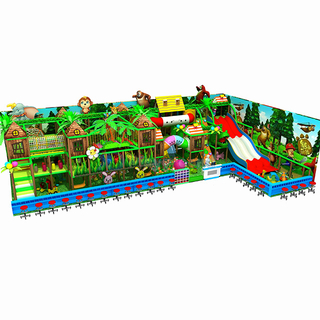 Jungle Adventure Soft Play Children Labyrinth with Big Slide