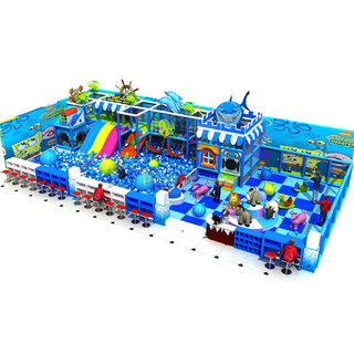 Ocean Themed Adventure Children Indoor Playground Equipment