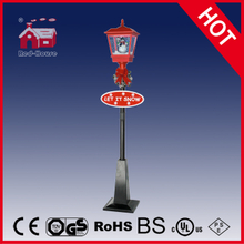 (LV180H-RH) Classic Red and Black Christmas Gifts Street Lamp with LED