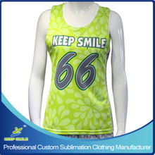 Custom Made Girl's Lacrosse Race Back Reversible Jerseys