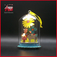 Easter Gifts Decoration Glass Dome Christmas LED Decoration Glass Dome Decoration Glass Giftware