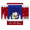 Window-shaped Home Wall Decor Snowing Christmas Decoration