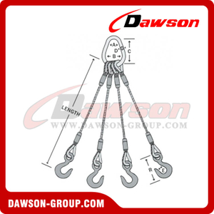 WS74-TTH Flemish Eye Splice Wire Rope Slings
